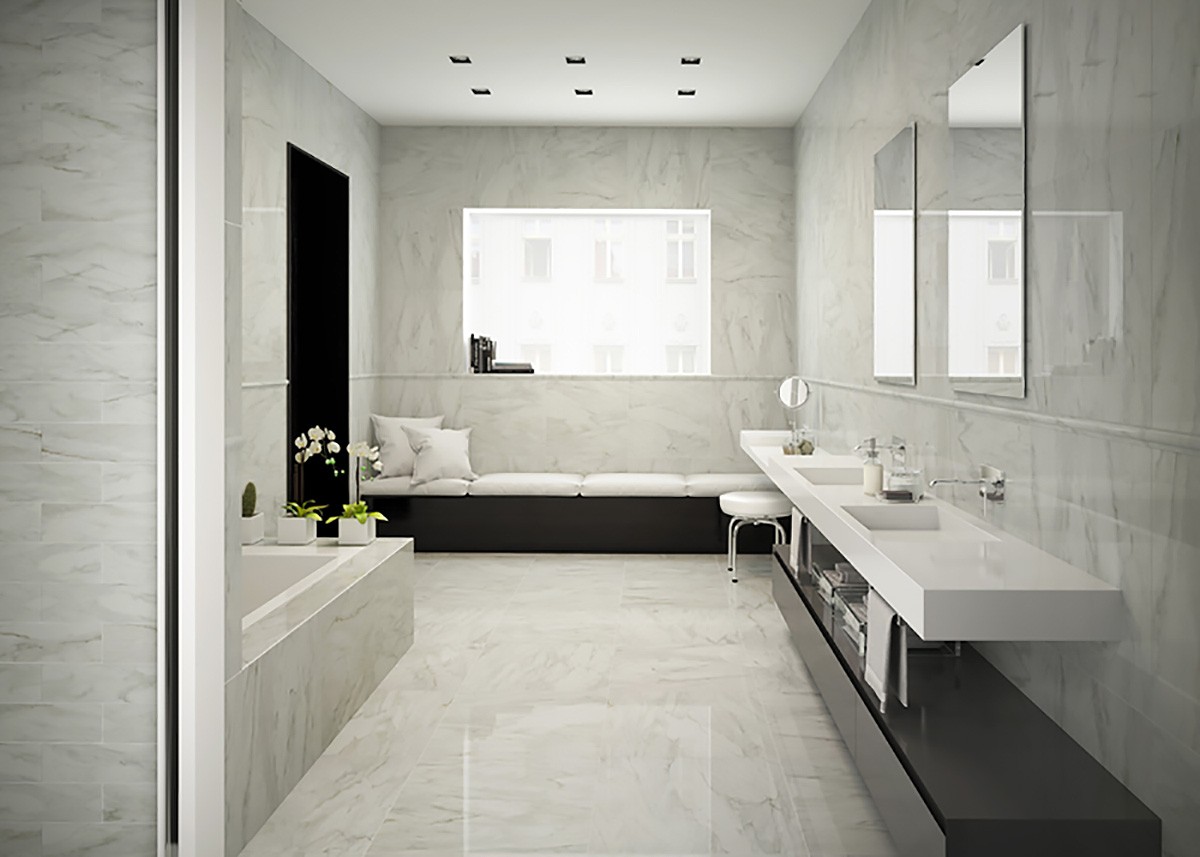 Bianco Viareggio Marble Porcelain Tiles From Alistair