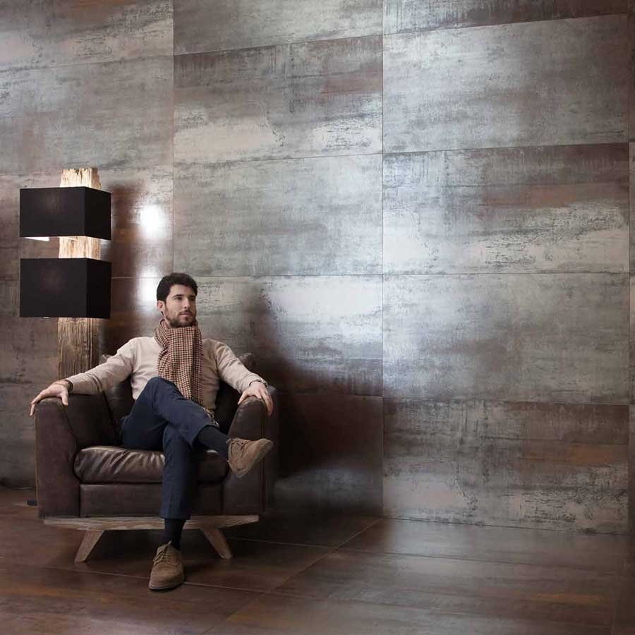 Oxide Bronze metallic effect porcelain tiles pp opt
