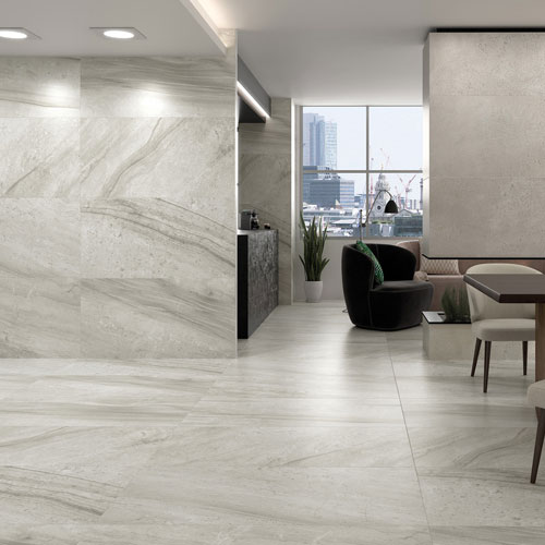 Rigo Silver Natural Stone effect porcelain tiles category opt