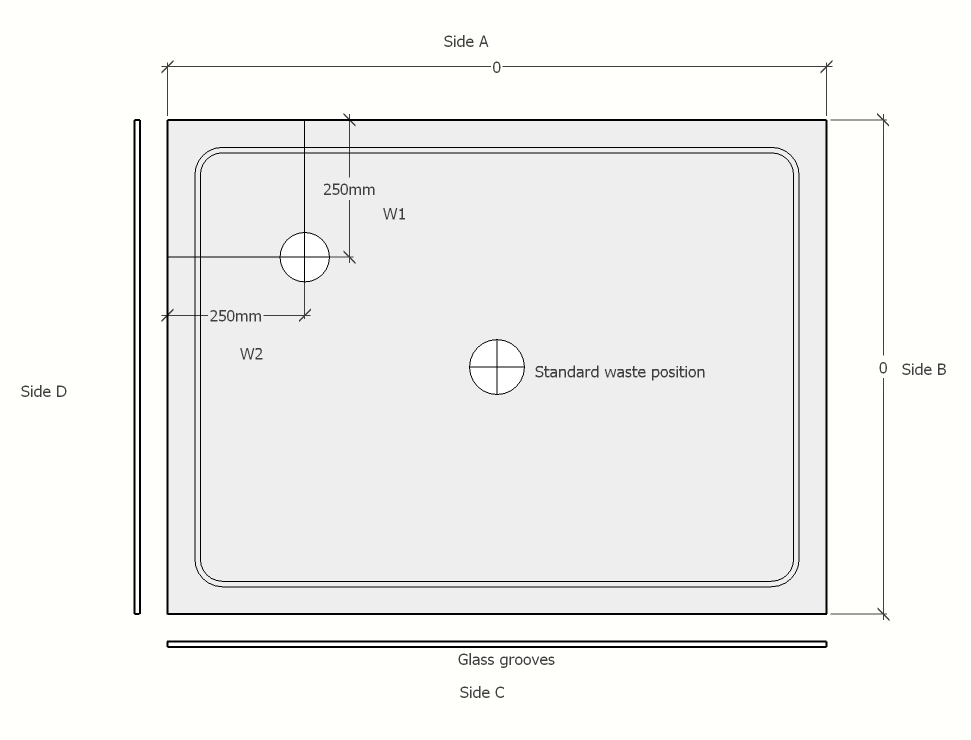 standard shower tray web