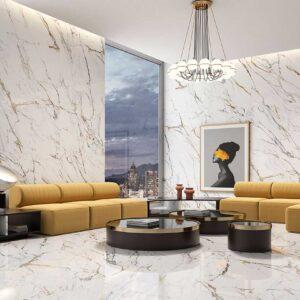 Larisa Gold Marble Porcelain Tiles