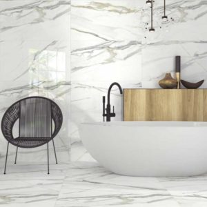 Calacatta Livorno porcelain tiles Bathroom opt