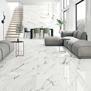 Statuario Supreme Marble porcelain tiles Room opt