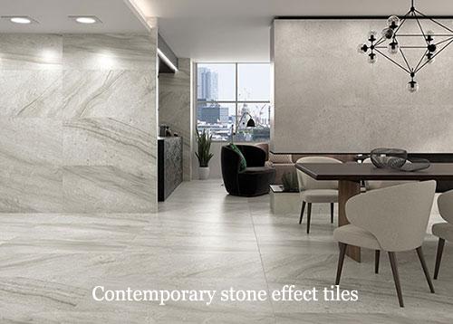 Contemporary stone effect tiles A