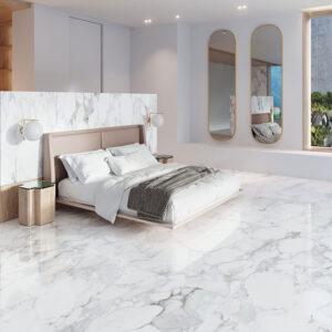Capri-marble-porcelain-tiles-Bedroom